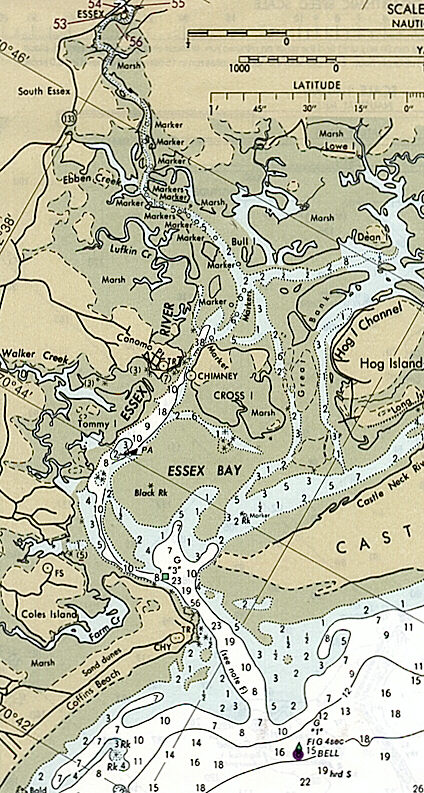 Essex River  Bay, Massachusetts -- Chart and Approaches