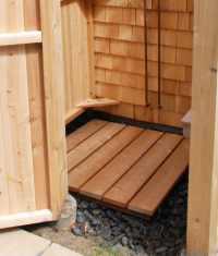 Outdoor Shower Floor - Quality Cedar Decking Panel