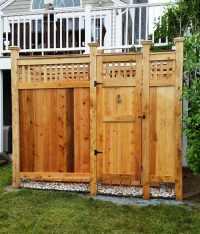 Outdoor Showers | Enclosures Cedar PVC | Cape Cod Shower ...
