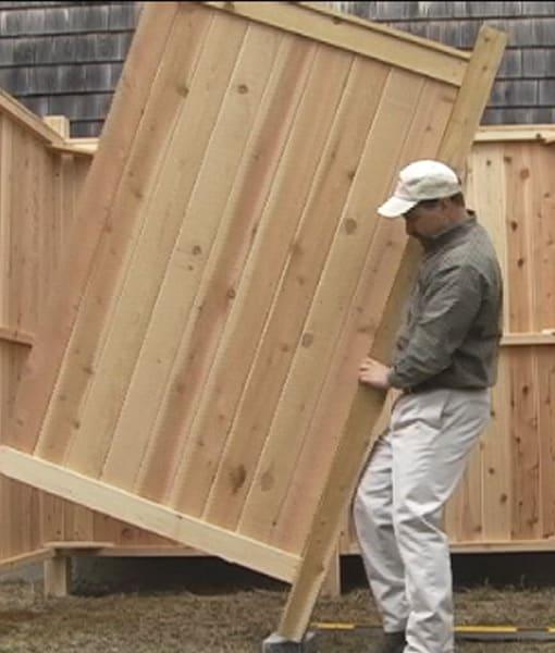 Outdoor Shower Kit Cedar Wall Panel
