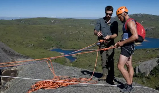 abseil on paarl rock