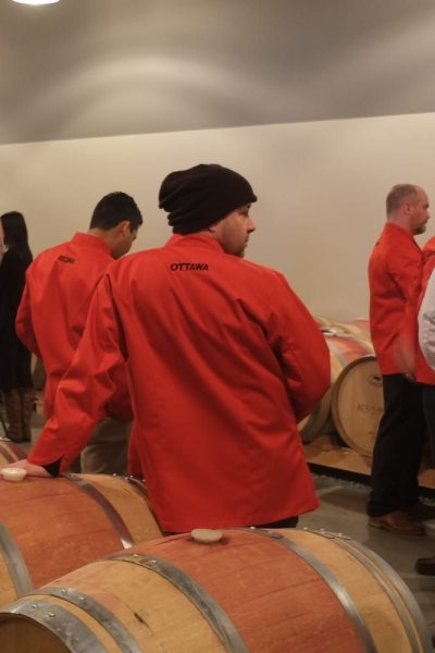 Canadian Culinary Championship 2015 – wine in hand