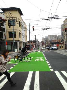 The Broadway bikeway will now be 1.1 mile long