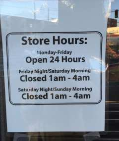 Thanks to a CHS reader for this picture of QFC's new Harvard Market hours