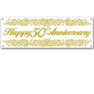 Buy 50th Anniversary Celebration Sign Banner - Cappel\u0027s