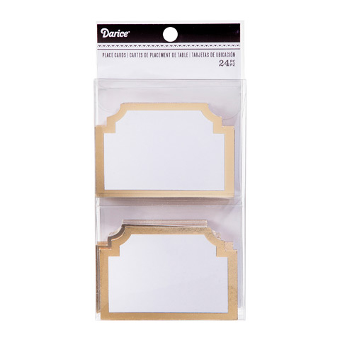 Buy Shaped Cardboard Fold-over Place Cards - Cappel\u0027s - buy place cards