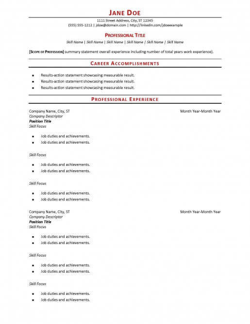 Reverse Chronological Resume Definition | Create Professional