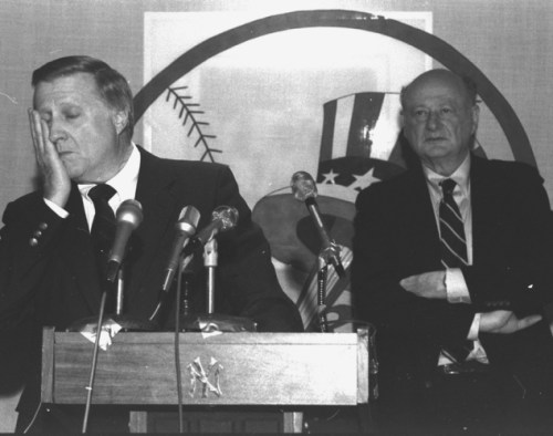 Steinbrenner and Koch had a lot of dealings with each other, but didn't always see eye to eye. (Photo: NY Daily News)