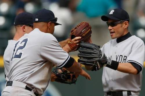 Yankee outfielders have not provided much of a helping hand on offense. (Photo: AP)