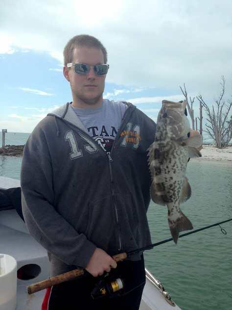 Grouper, Redfish Pass, 1-9-14, Sanibel & Captiva Islands & Fort Myers Charters & Fishing Guide Service.