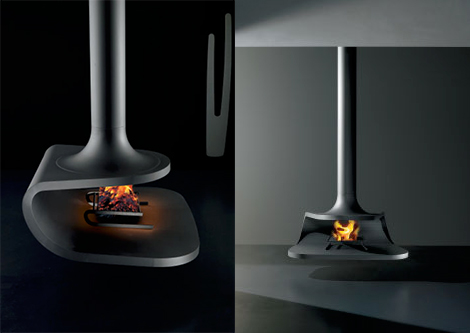 Ceiling Mounted Fireplaces 9 Coolest Ceiling Fireplace