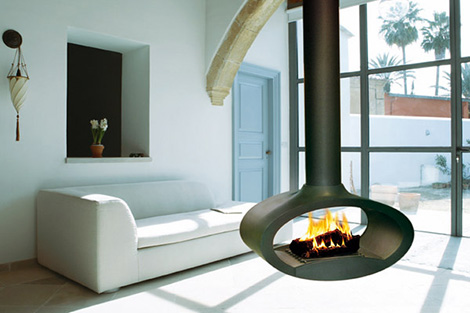 Ceiling Mounted Fireplaces 9 Coolest Ceiling Fireplace Designs Captivatist