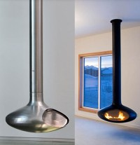 Ceiling Mounted Fireplaces - 9 coolest ceiling fireplace ...