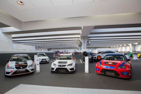 Uno scorcio della sede della Seat Motorsport Italia. 7000 metri quadri tutti dedicati all'attività racing