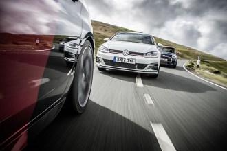 PEUGEOT 308 GTi vs MINI John Cooper Works vs VOLKSWAGEN Golf GTi 1