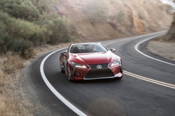 Lexus LC500, Ojai.  Photo: James Lipman
