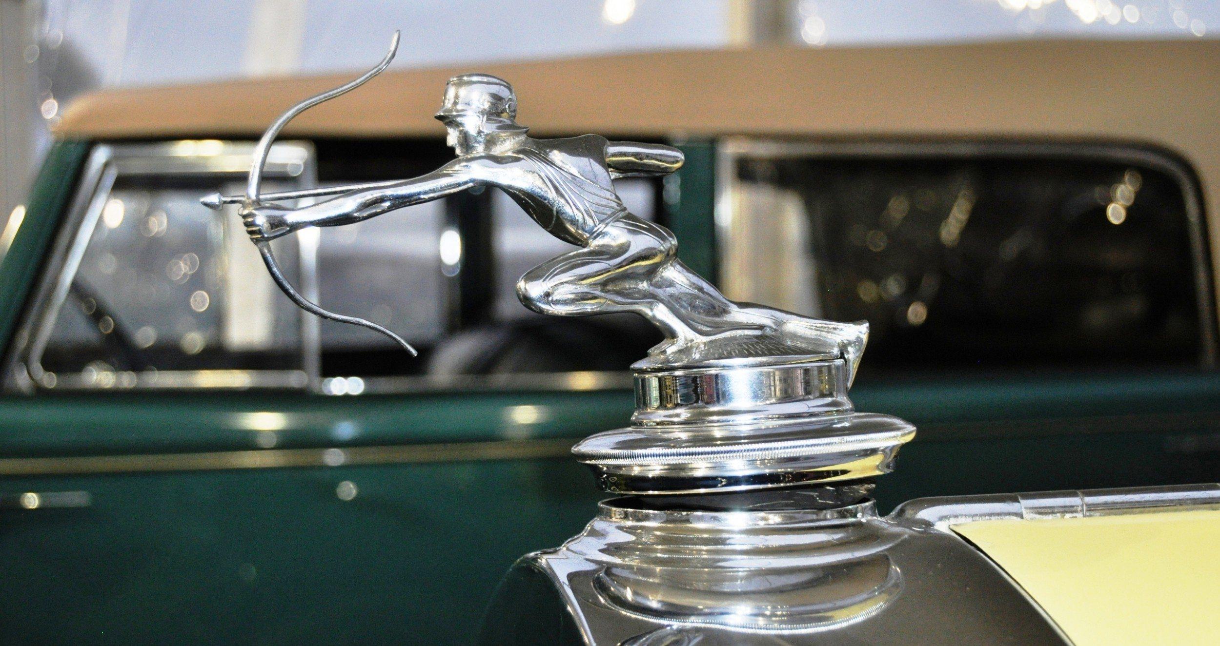 Coolest vintage hood ornaments rm auctions amelia island 2014 pierce arrow