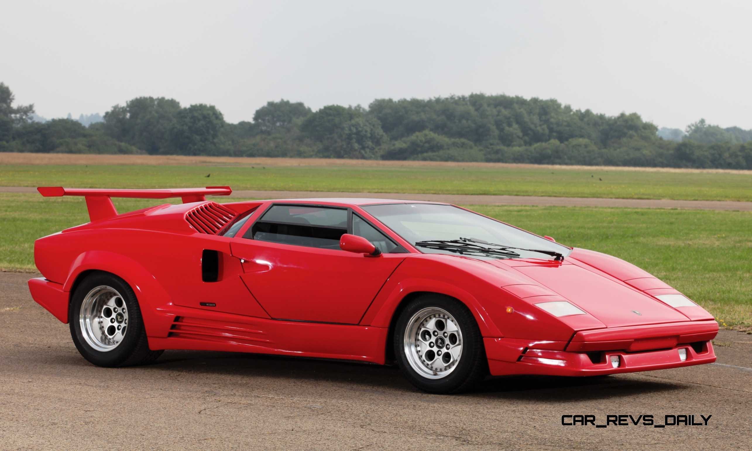 Very Best Sports Car Wallpaper 1990 Lamborghini Countach 25th Anniversary Edition Brings