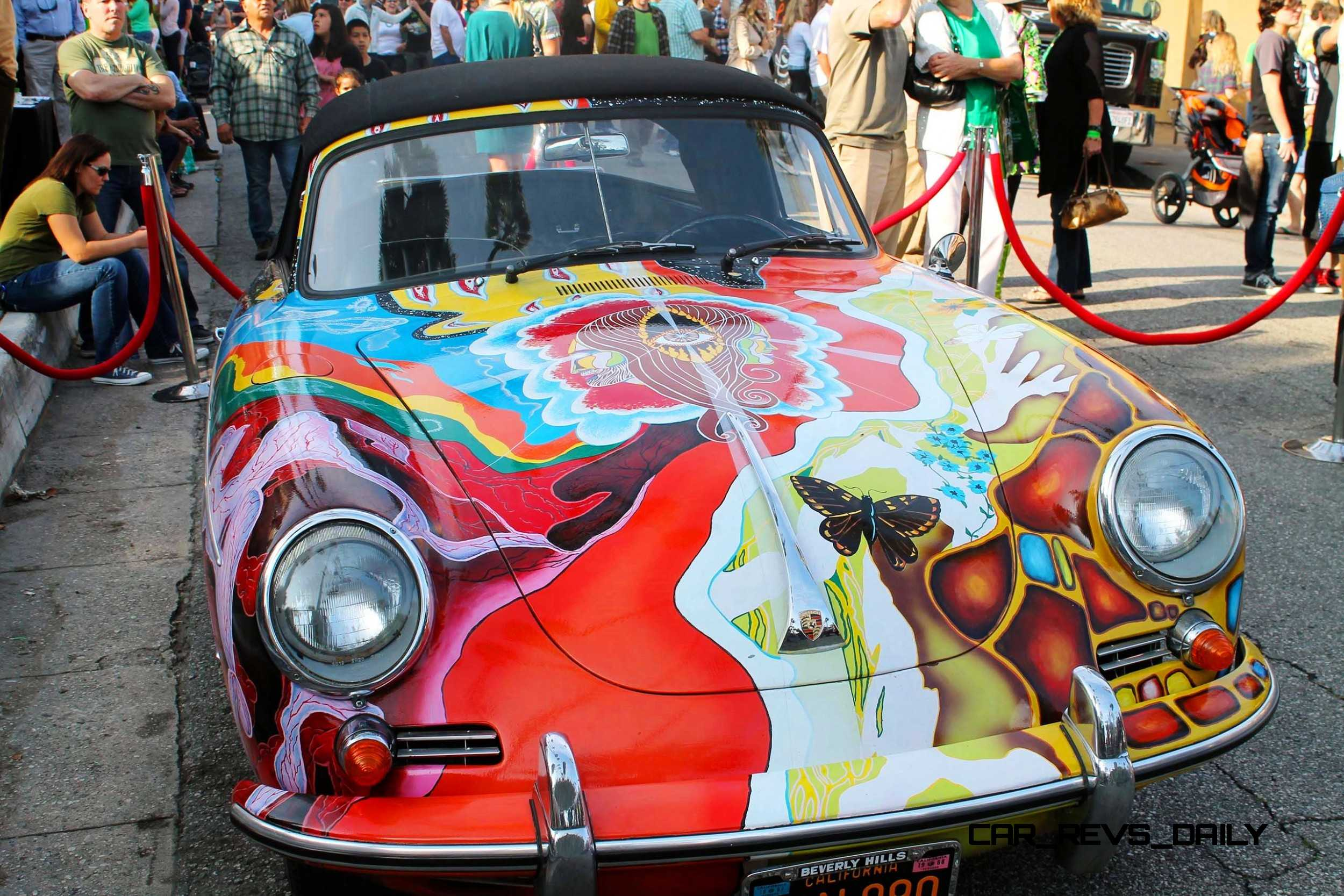 Wallpaper Hippie Girl Porsche 356 Art Car Janis Joplin Homage