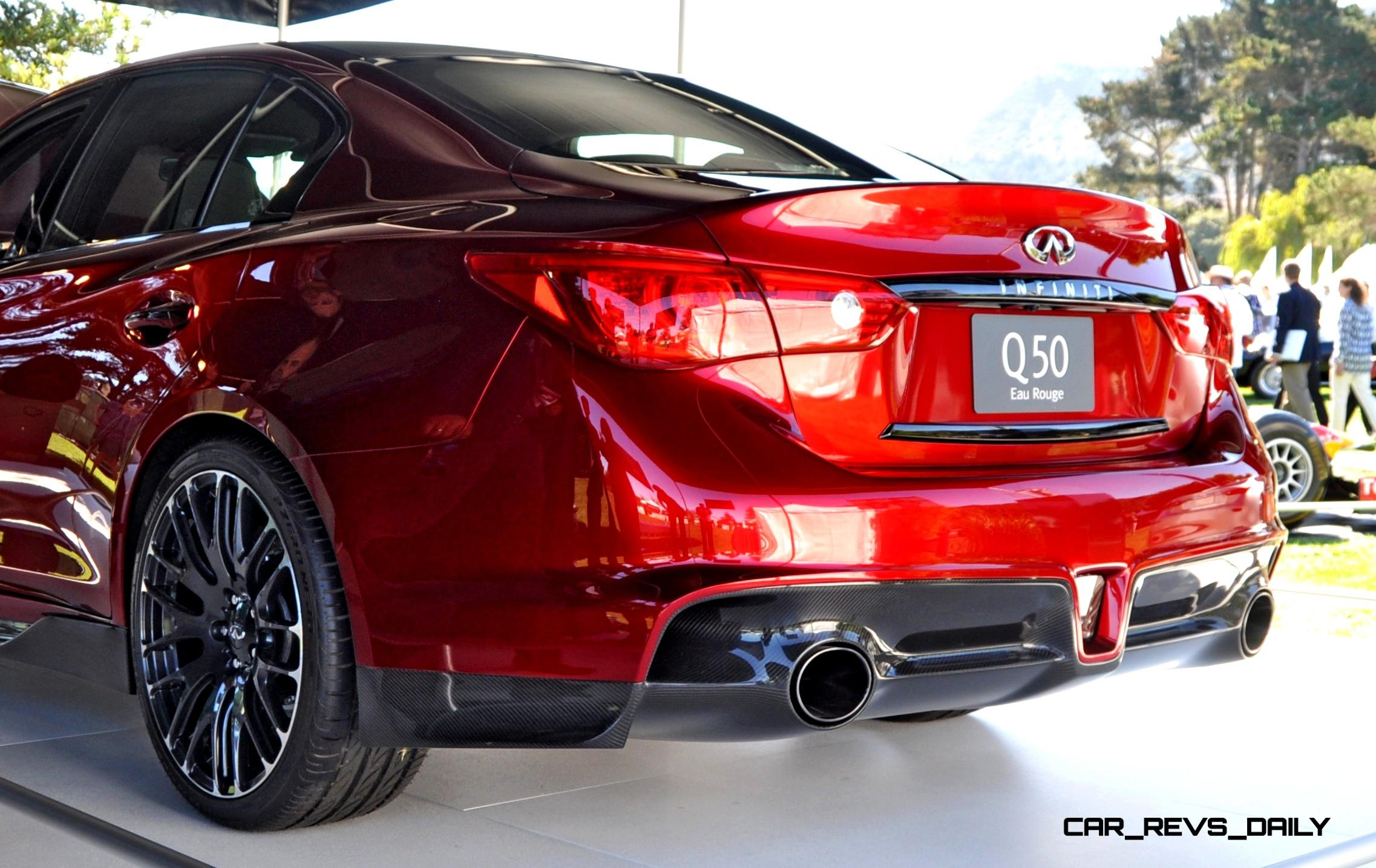 Fast Sports Cars Wallpapers Infiniti Q50 Eau Rouge In 40 New Photos From Pebble Beach