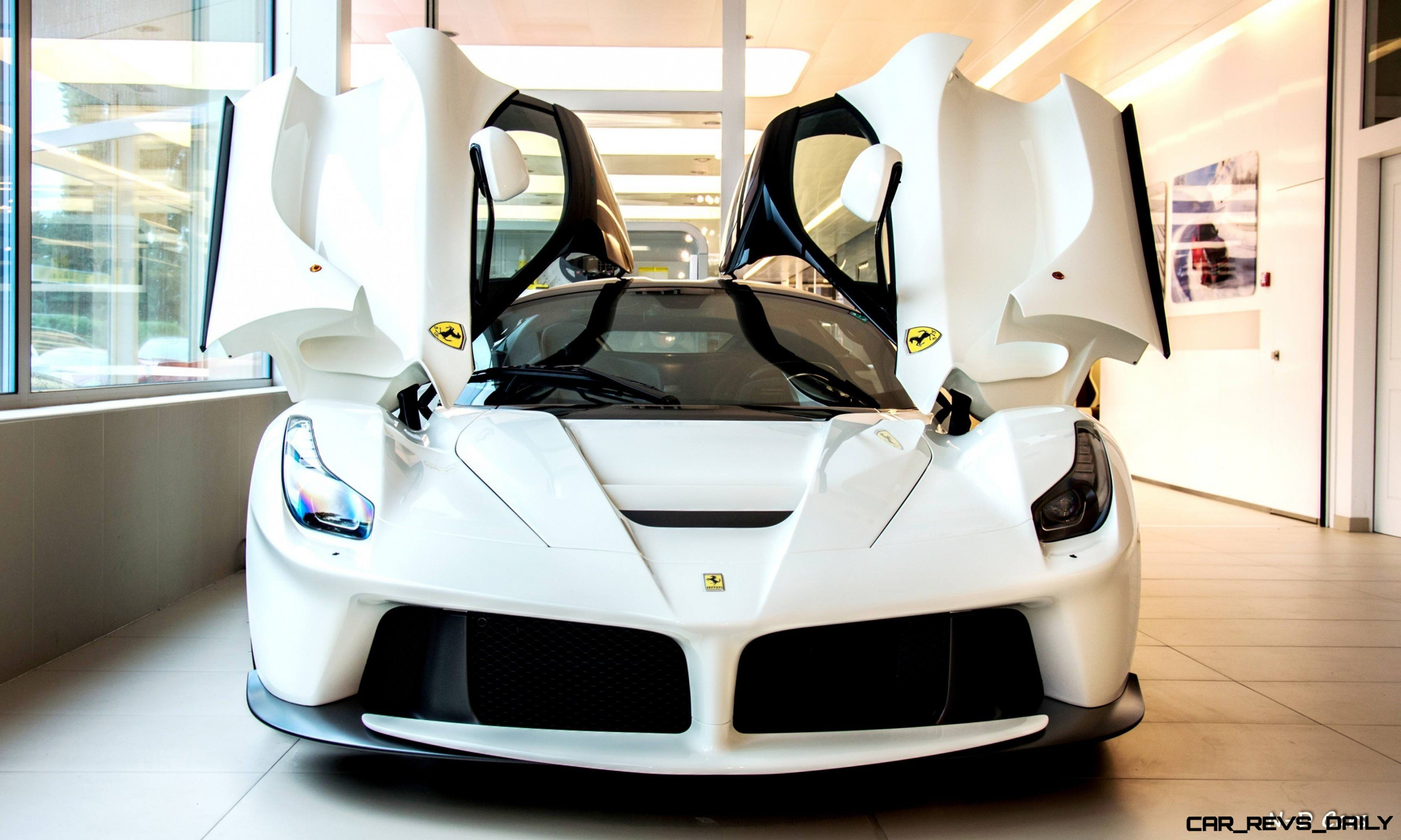 Car Slideshow Wallpaper White Laferrari Snapped In Geneva This Week By N D Photography