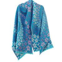 Daisy Sky Merino Wool Shawl | Caraliza Designs
