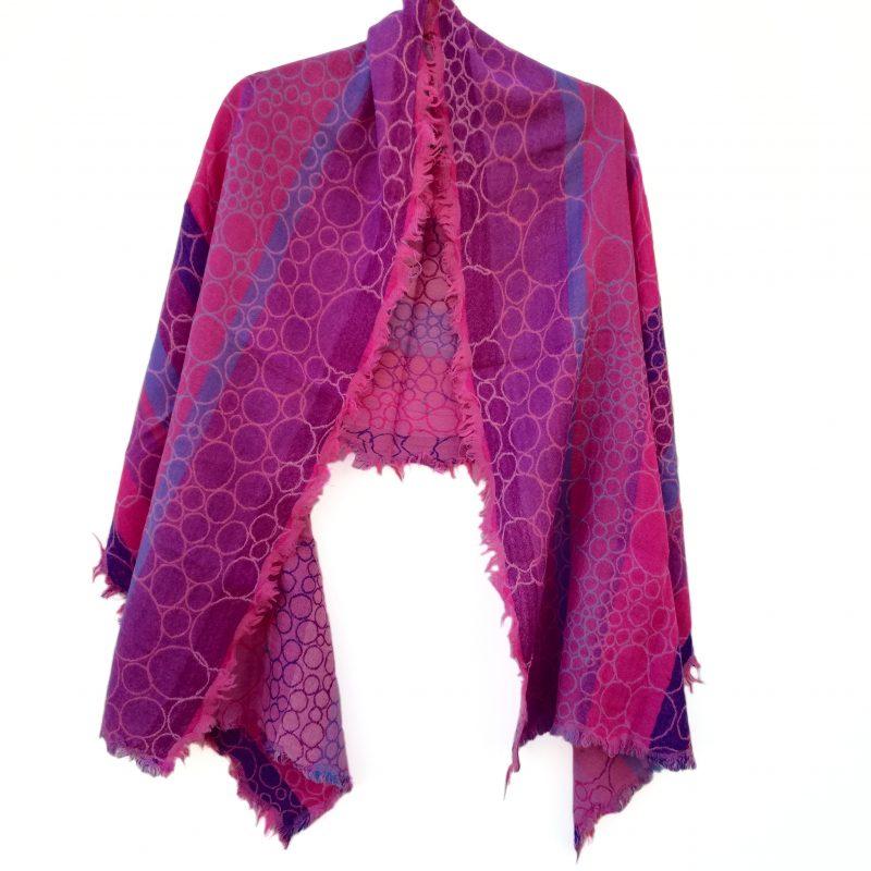 Candy Bubbles Merino Wool Shawl