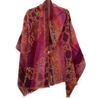Peachy Klimt Merino Wool Shawl | Caraliza Designs