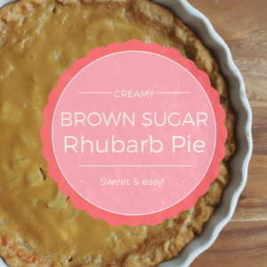 Extra-creamy rhubarb pie with a sweet dose of brown sugar.. This is the perfect recipe for a quick and easy rhubarb pie!