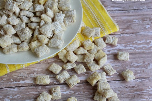white chocolate chip cookies into white chocolate chex cereal mix