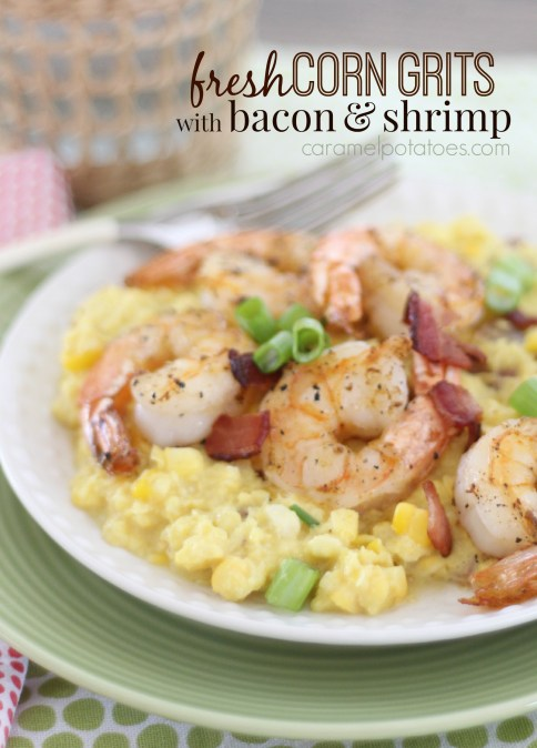 Shrimp And Grits With Bacon Recipe — Dishmaps