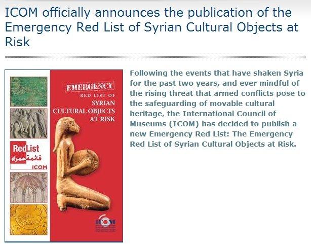 Syria-artifactredlist