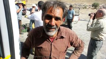 A fruit seller outside of Persepolis