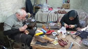 Traditional shoemakers in Zanjan
