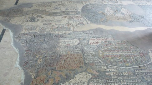 Mosaic map of the Holy Land at St. George church in Madaba