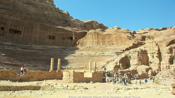The theater in Petra