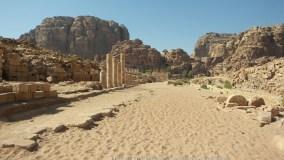 Roman columns in Nabatean Petra