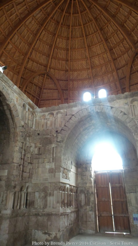 Inside the entrance hall at the citadel in Amman
