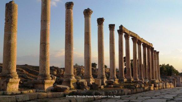 Columns along the main street in Jerash