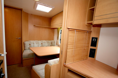 Rear dinette converts into a double bed
