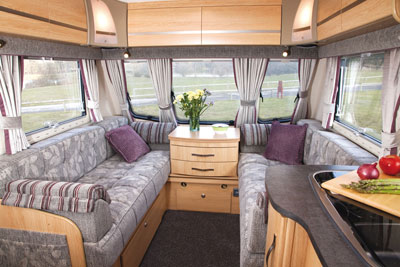 Lounge area in the Coachman Pastiche