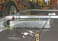 Whale heater fitted under chassis