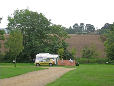 Attractive countryside views from some pitches