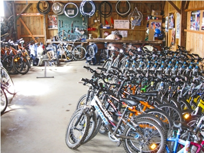 There's also an onsite bikeshop where you can rent bikes during your stay