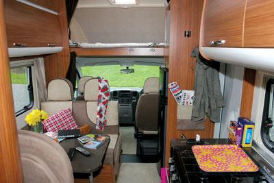 Adria Sport 660 interior looking forward