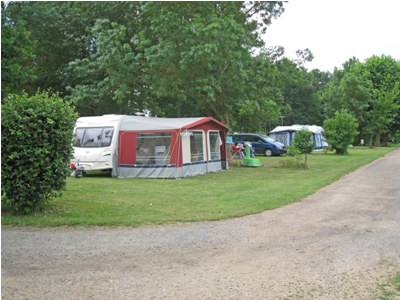 The pitches are set around well established trees and shurbs