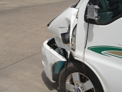 Crashed motorhome