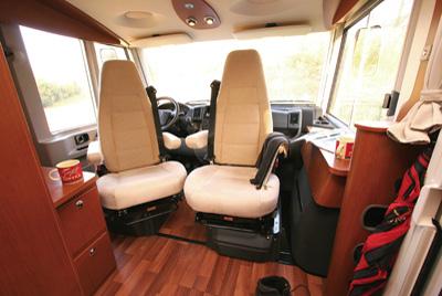 Hymer B534 Cab Swivel Seats