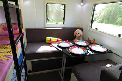Stealth T58 Caravan kids zone