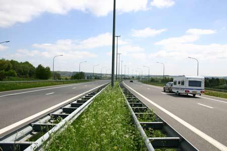 caravan on French motorway